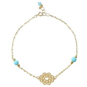 Galaxy 18ct Gold Chain Gemstone Bracelet