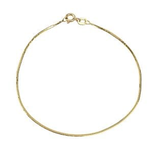 Snake Chain 18ct Yellow Gold Bracelet