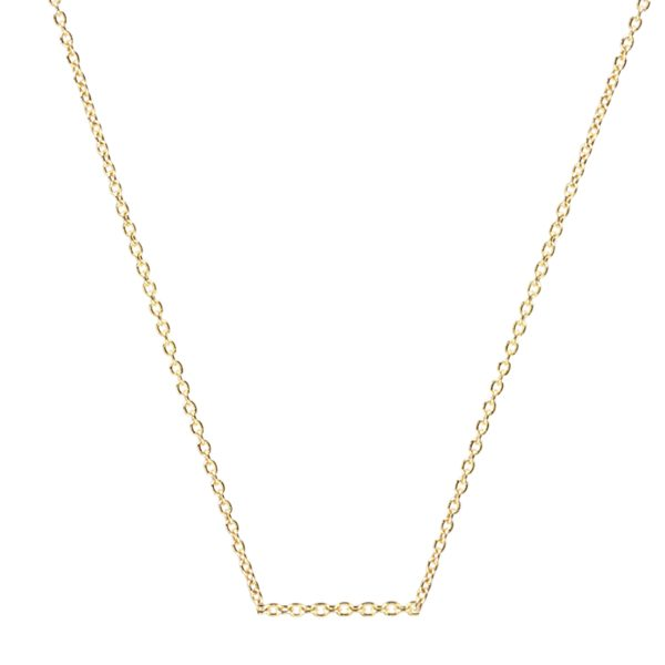 18ct Yellow Gold Oval Link Belcher Chain