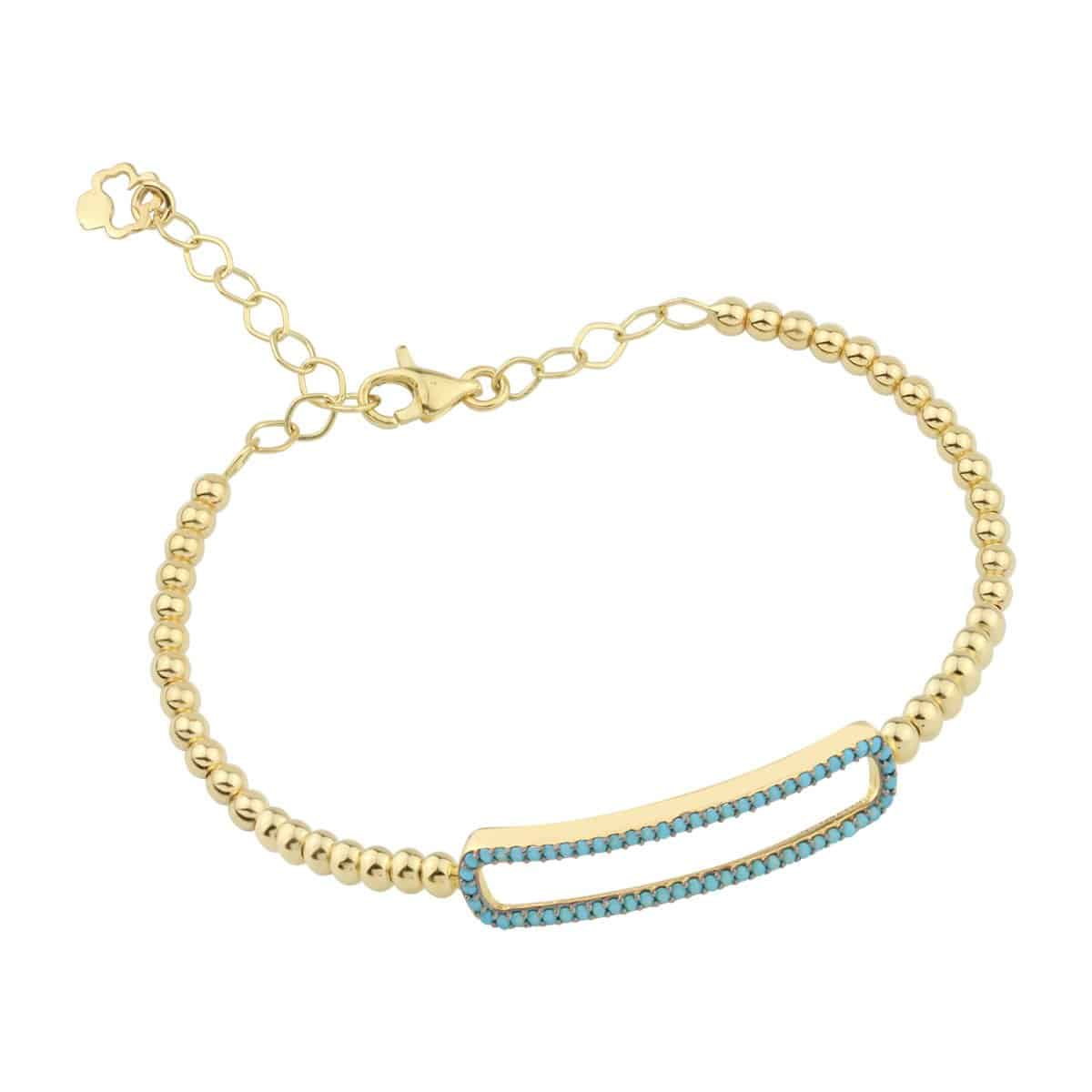 Aria Turquoise 18ct Gold Cuff Bracelet