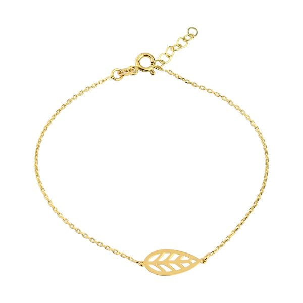 Noemi Capri Leaf 18ct Gold Chain Bracelet