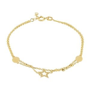 Noemi Double Aira 18ct Gold Chain Bracelet