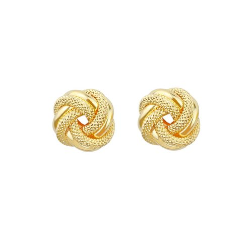18ct Yellow Gold Knot Earrings Studs