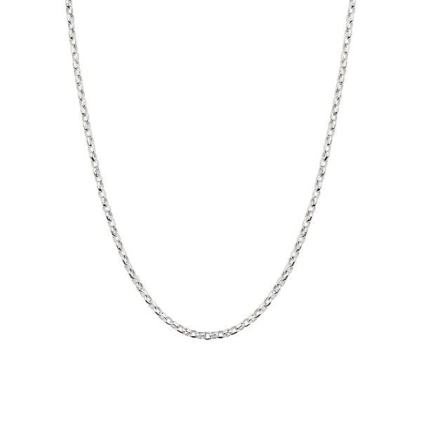 18ct White Gold Oval Link Chain Necklace