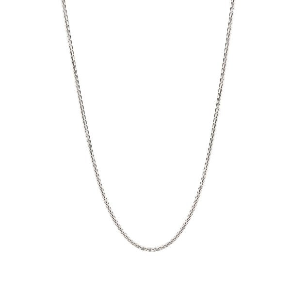 Noemi 18ct White Gold Wheat Long Chain Necklace