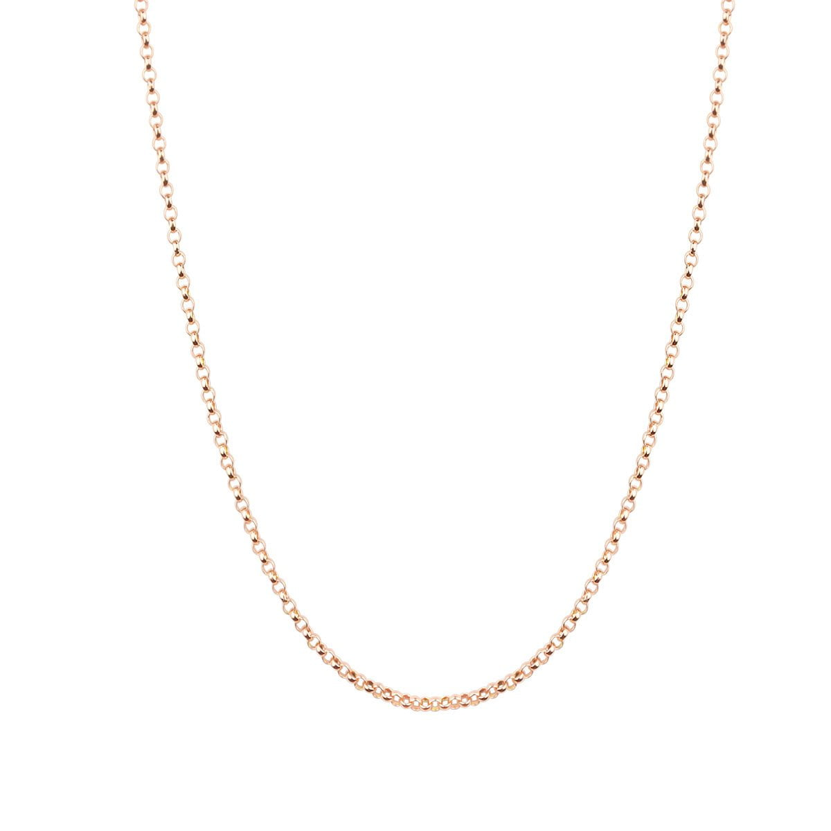 Noemi 18ct Rose Gold Belcher Chain Necklace