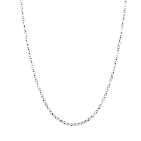 18ct Solid White Gold Belcher Chain