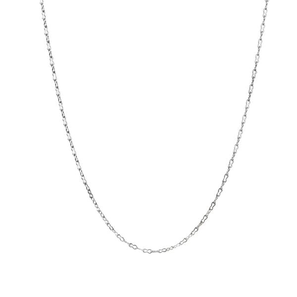 18ct White Gold Crinkle Oval Link Chain