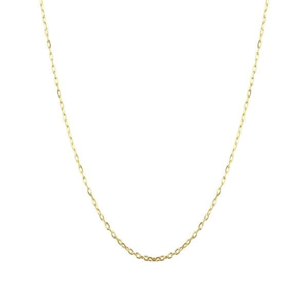 18ct Yellow Solid Gold 20inch Blecher Chain Necklace