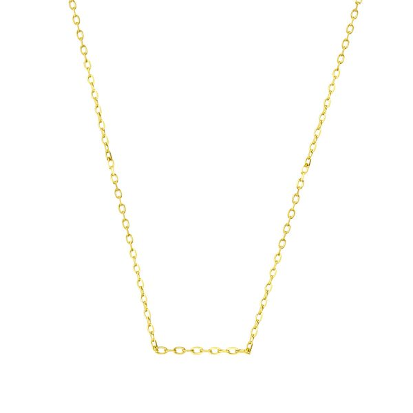 Skinny 18ct Yellow Cable Gold Chain Necklace