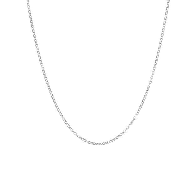 Noemi 18ct White Gold Oval Link Chain