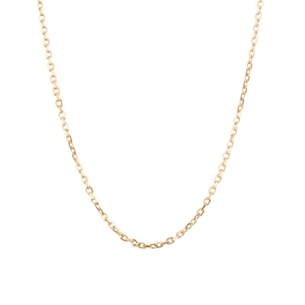 18ct Rose Gold Close 17inch Blecher Necklace Chain