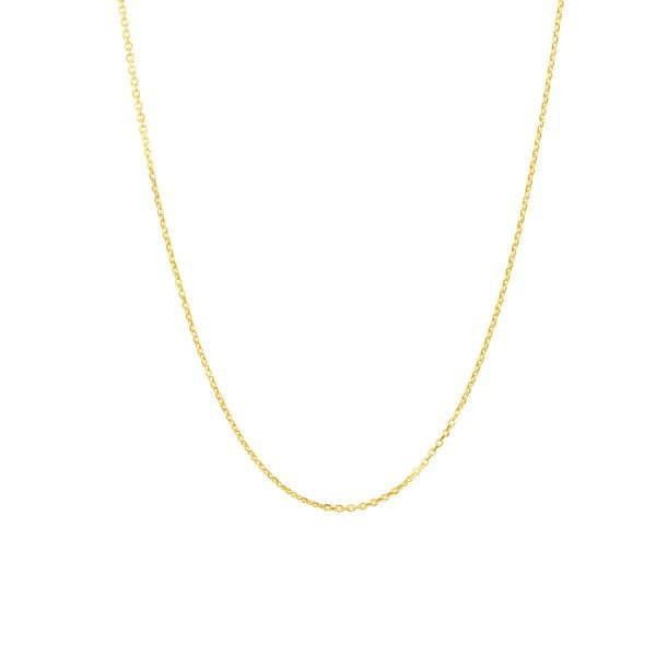 18ct Yellow Gold 18inch Trace Chain Necklace