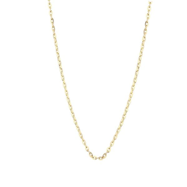 18ct Yellow Gold 16inch Trace Chain Necklace