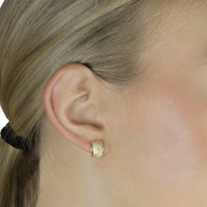 Noemi Curve 18ct Yellow Gold Clip-On Stud Earrings