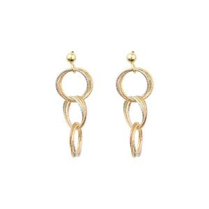 Cali Circle 18ct Gold Drop Earrings