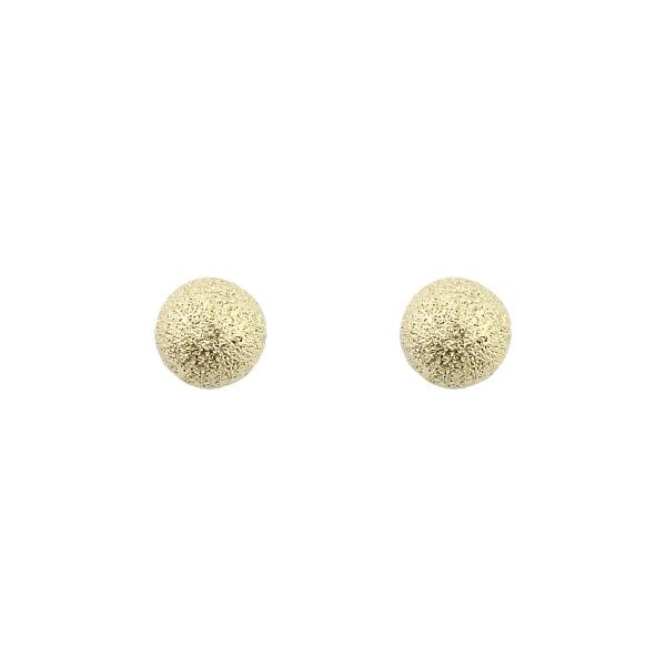 Mini Textured 18ct Yellow Gold Ball Stud Earrings