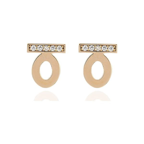 Gia 18ct Rose Gold Opal Stud Earrings