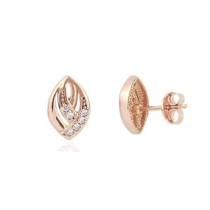 Gia Icon 18ct Rose Gold Earrings Side View