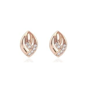 Gia Lune 18ct Rose Gold Stud Earrings