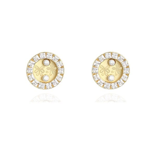 Serena Butterfly 18ct Yellow Gold Stud Earrings