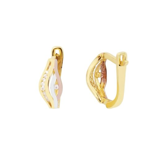 Cali 18ct White, Rose And Gold Clip On Earrings