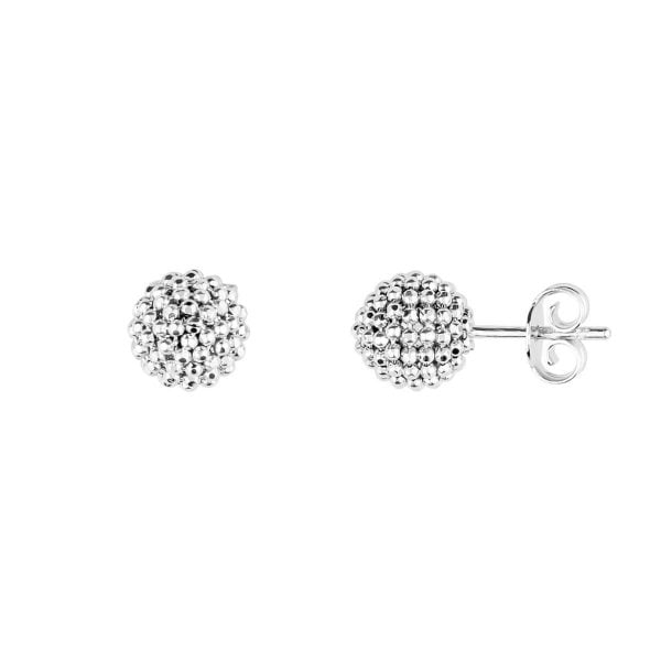 Auric Signature 18ct White Gold Ball Stud Earrings