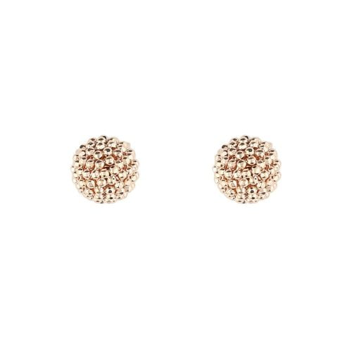 Auric Signature 18ct Rose Gold Ball Stud Earrings