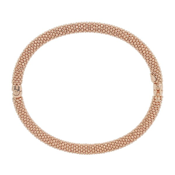 Auric Signature 18ct Rose Gold Hinged Bangle