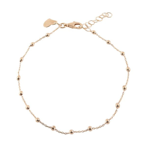 Auric 18ct Rose Gold Ball Bracelet