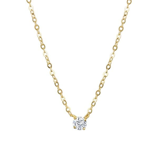 Gia 18ct Yellow Gold Bezel Necklace