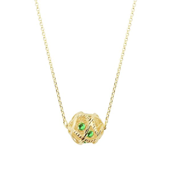 Aria Green 18ct Gold Pendant Necklace