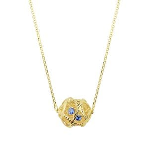 Aria Blue 18ct Gold Pendant Necklace
