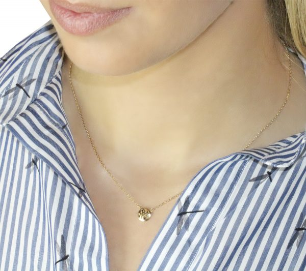 Gia Ashley 18ct Gold Pendant Necklace On A Model