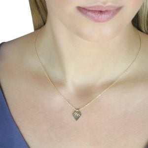 Noemi 18ct Gold Pendant Necklace Worn By A Model