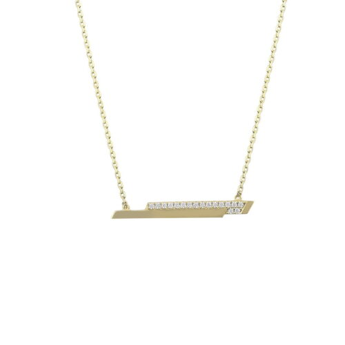 Gia 18ct Yellow Gold T Bar Chain Necklace