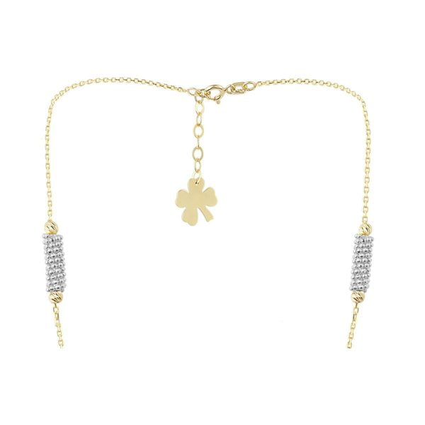 Top View Of Cali Isla Cluster 18ct Gold Pendant Necklace