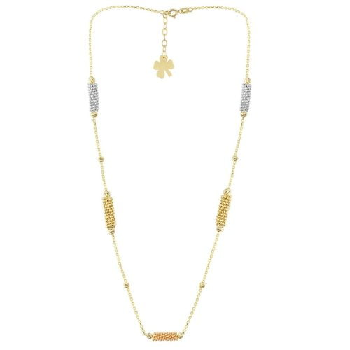 Cali Isla Cluster 18ct Gold Pendant Necklace