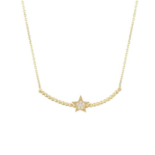 Gia Star 18ct Gold Pendant Necklace