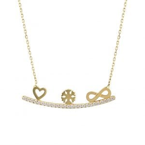 Gia Maya 18ct Gold Pendant Necklace