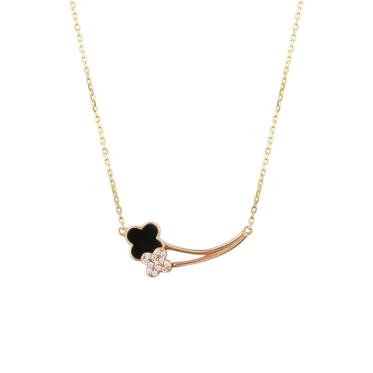 Cali Journey 18ct Rose Gold Pendant Necklace