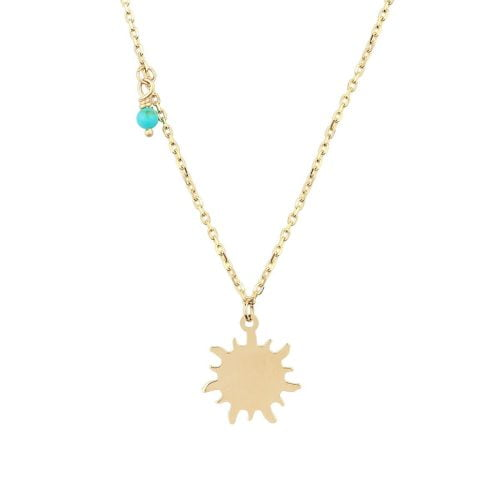 18ct Gold Turquoise Pendant Necklace