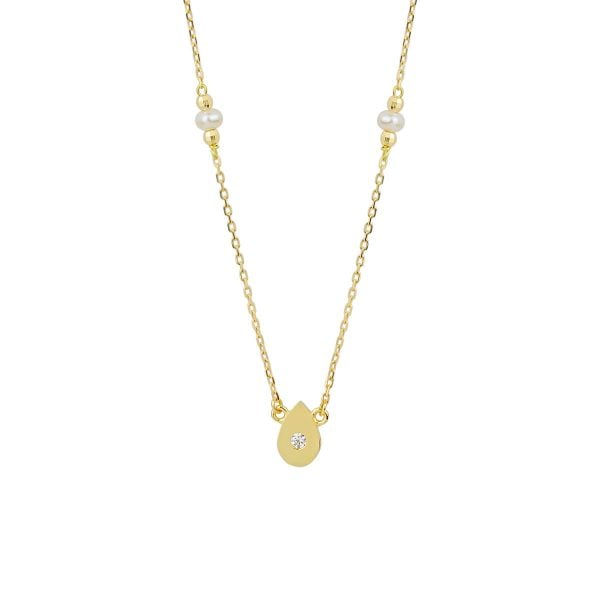 Pearl Autumn 18ct Gold Pendant Necklace