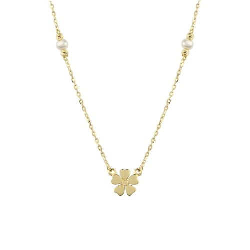 Pearl Aura 18ct Gold Pendant Necklace