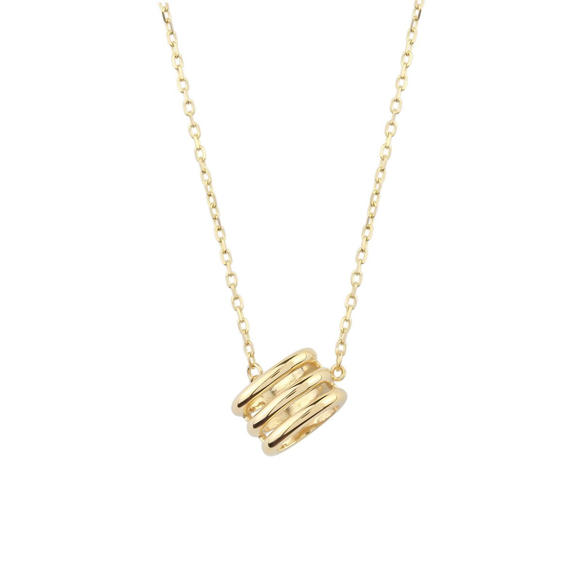 Noemi Honeycomb 18ct Gold Pendant Necklace