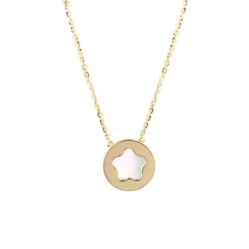 Auric Maya Pearl Flower 18ct Gold Pendant Necklace