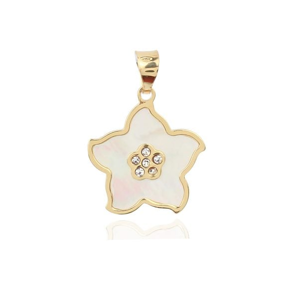 Pearl Flower 18ct Gold Pendant