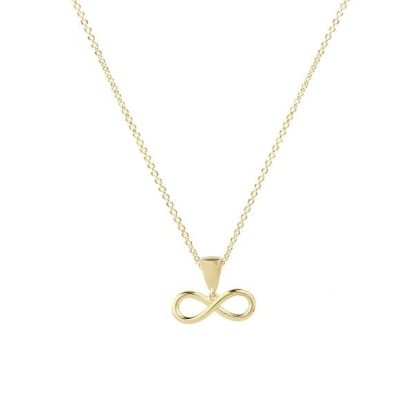 Infinity Dainty 18ct Gold Pendant With A Gold Chain