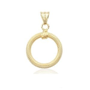 Noemi O Pendant in 18ct Gold