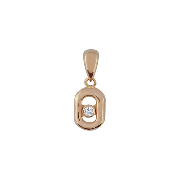 Cali Mini 18ct Rose Gold Pendant Charm